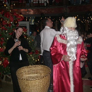 Santa Clause at the Berger's Sporthotel